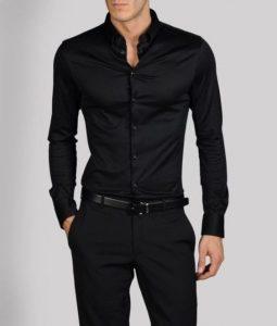 černá košile